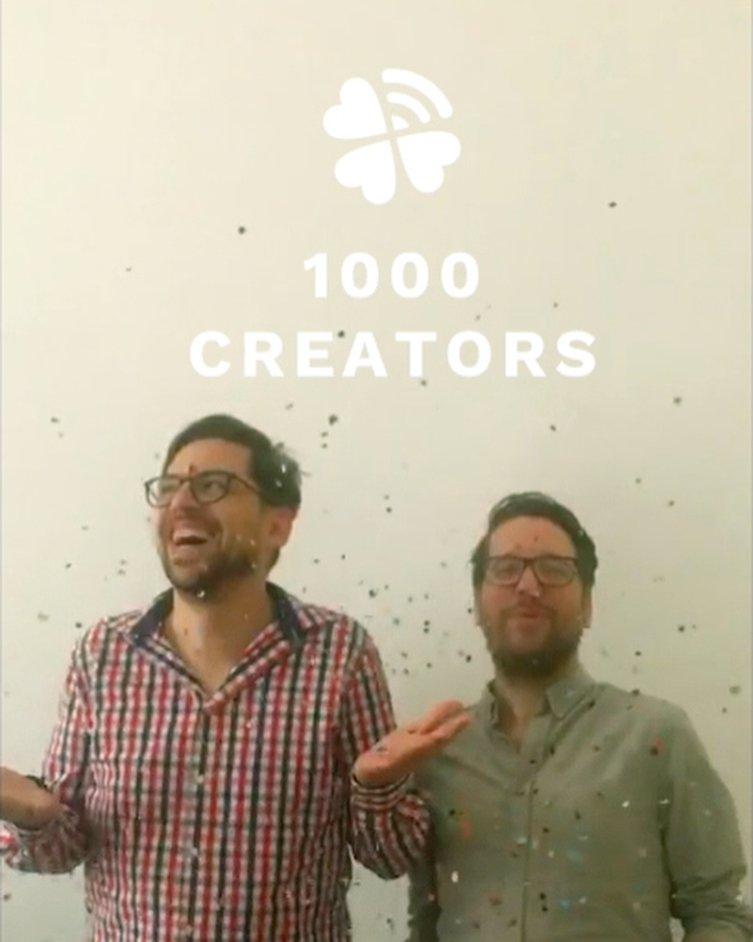 1000 creators